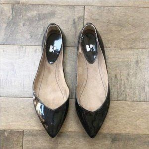 B.P. Black Patent Pointed Flats, Size 6.5 NWT
